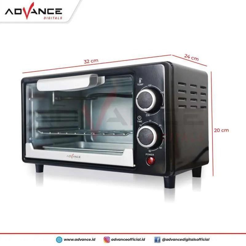 oven listrik advance aov100 electric oven 9 liter 500 watt aov 100
