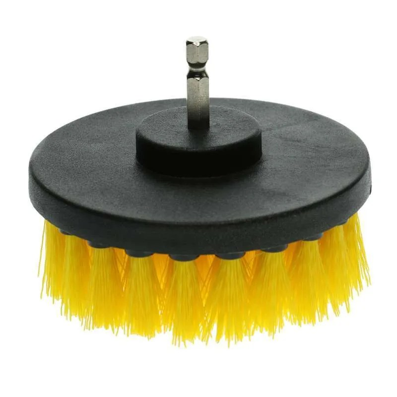 drill powered scrub brush scrubber for cleaning bathroom sink tiles 2 red