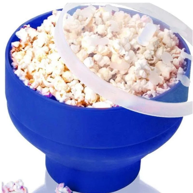 microwave popcorn maker corn collapsible silicone bowl container