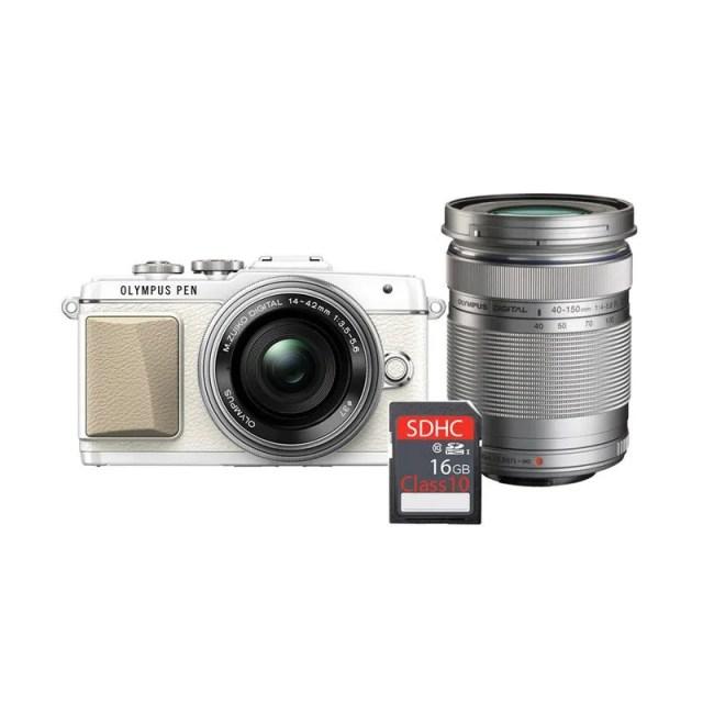 olympus_olympus-pen-e-pl-7-kit-14-42mm-ez---lens-40-150mm-r-kamera-mirrorless---silver---free-sdhc-16gb_full05 8 Kamera Mirrorless Terbaik Untuk Video Yang Jernih