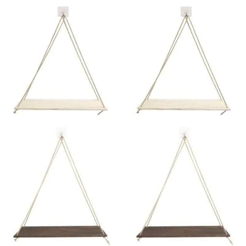 Jual 4x Wall Mounted Shelves Garden Hanging Rack With Rope Living Room Decor Online September 2020 Blibli Com