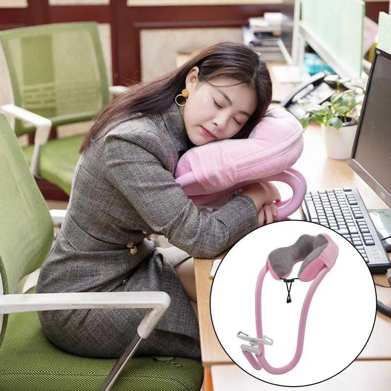 super soft neck pillow airplane travel for sleeping portable head neck support sleeping pillows in flight u shape headrest cushion with phone holder