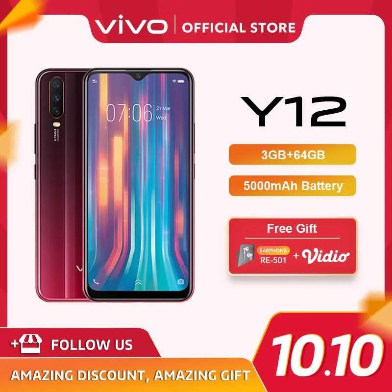 Pembelian mudah, dengan cicilan tanpa dp, tanpa jaminan dan tanpa kartu. √ Vivo Y12 Smartphone 64gb/ 3gb Terbaru Juli 2021 harga murah - kualitas terjamin   Blibli