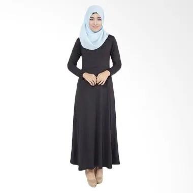 Elzatta Gamia Adela Busui 801 Gamis Muslim Wanita - Black