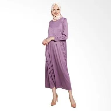 Elzatta Afsa Gamis Muslim - Purple