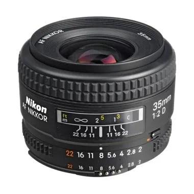 Nikon AF NIKKOR 35mm f/2D Lensa Kamera DSLR - Hitam