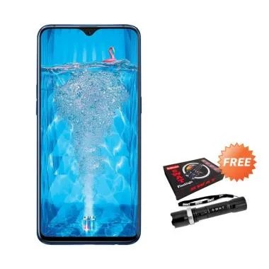 OPPO F9 Smartphone [64GB/ 4GB] + Free Senter Police