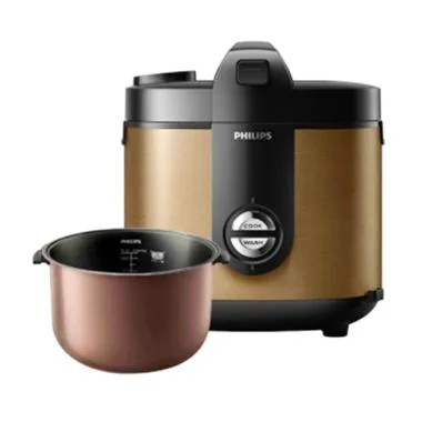 PHILIPS HD3132/34 Premium Plus Rice Cooker - Gold