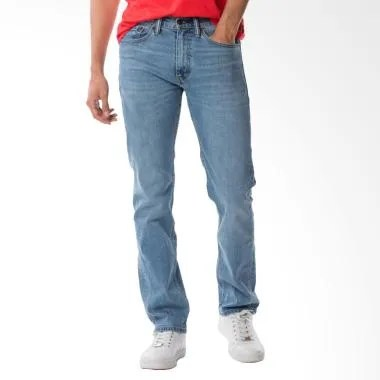 Levi's 505 Regular Fit Jeans Pria - Hellconia Blue [00505-1600]