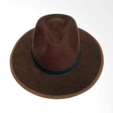 D & D Hat Collection Fedora Panama  ...  Topi Fedora - Coklat Tua