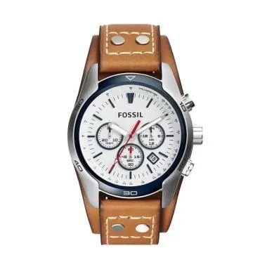 Fossil CH2986 Leather Strap Jam Tangan Pria - Brown