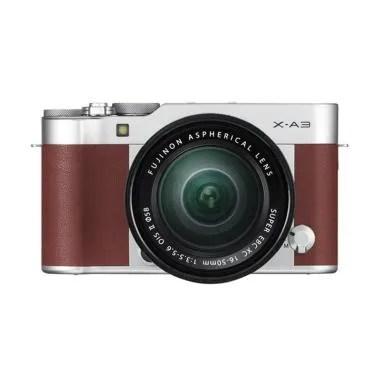Fujifilm X-A3 Kit  Lens XC16-50mm B ... rorless - Brown [24.2 MP]