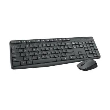Logitech MK235 Combo Wireless Keyboard and Mouse - Hitam