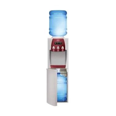 Sanken HWD-Z89 Dispenser Air - Cream Merah [Dua Galon / Atas Bawah]