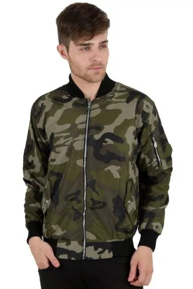 Elfs Shop Military Bomber Motif Army AT Jaket Reverseable - Hijau Muda