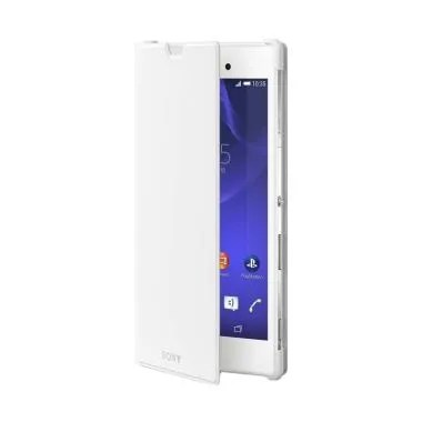 SONY Original SCR16 Style Stand Cover Casing for Xperia T3 - White