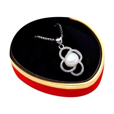 Royale Jewel WGP 078B Kalung Perak  ... iara Asli with Velvet Box