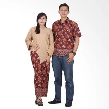 bBatik Putri Ayu Solo Sarimbit Dress srd201 Batik Couple - Cokelat