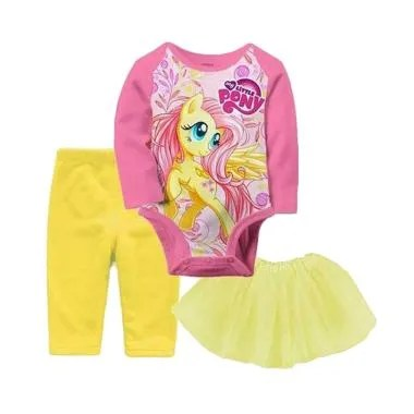J2 Kids Romper Set Pony - Pink
