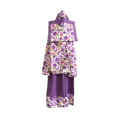 Mukena Dinda Katun RS 06 Mukena Anak - Purple Rose