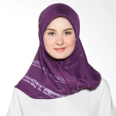 Dauky Hedda Scarf Jilbab Segiempat - Purple