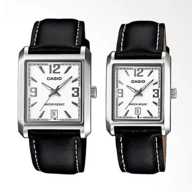 Casio Stainless Steel Leather Jam T ...  Black MTP/LTP-1336L-7ADF