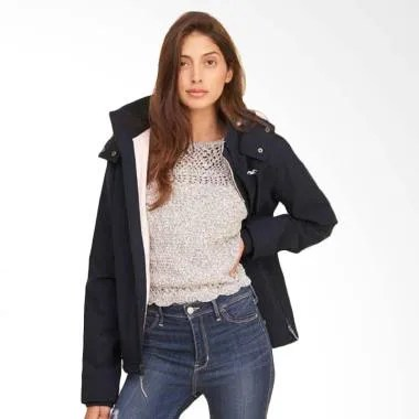 Hollister Fleece Jacket Wanita - Navy