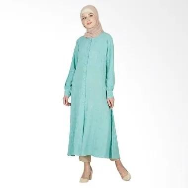 LAMAK Ishana Abaya Tunik Atasan Muslim Wanita - Hijau
