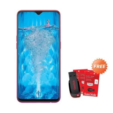 OPPO F9 Smartphone [64GB/ 4GB] + Free Flashdisk Sandisk 16 GB