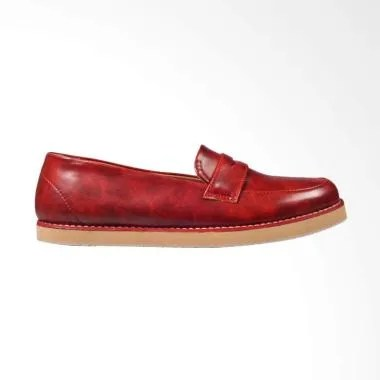 Giant Flames Soka Sepatu Flat Wanita - Red
