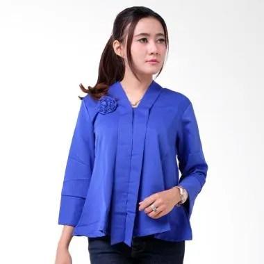 Batik Distro BA9203 Encim Polosan Kebaya Wanita - Biru