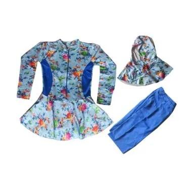 Rainy Collections Baju Renang Anak Muslim - Biru Muda [5-11 Tahun]