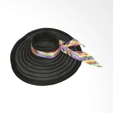 D&D Hat Collection Floppy Hat Wide  ... langi Topi Pantai - Hitam