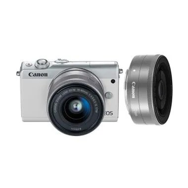 Canon EOS M100 Kit 15-45mm IS STM + ... e + Free LCD Screen Guard