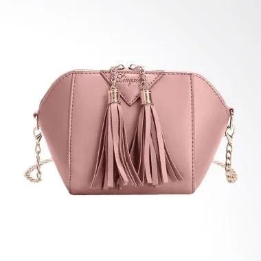 Lingxing Fashion Tassel Small Purse Women Sling Bag - Pink