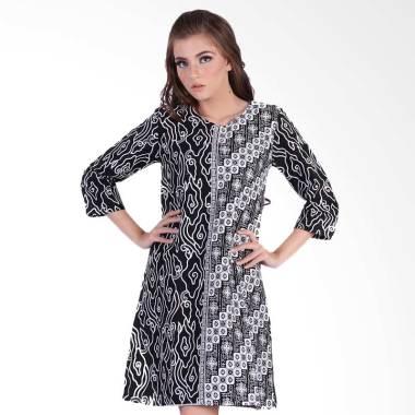 Rianty Anora Dress Batik Wanita - Black