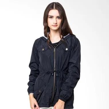 Evio Coconut Tree Women Parka 1 Jacket - Hitam