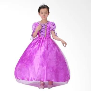 Disney Baju Kostum Princess Rapunzel Dress Anak/ Gaun Pesta Anak