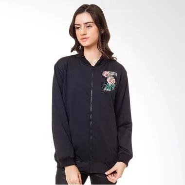 Boontie Kyoto Jacket Bomber Wanita - Black