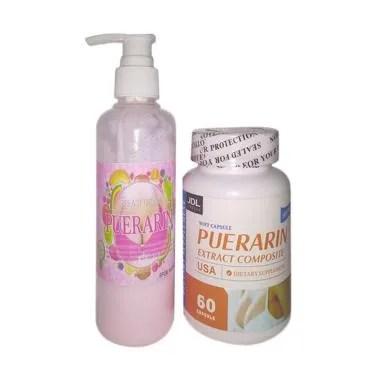Puerarin Capsul Dan Cream Paket Pembesar Payudara