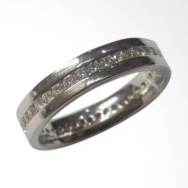 Pentacles SCI232 Wedding Ring White Gold with Diamonds