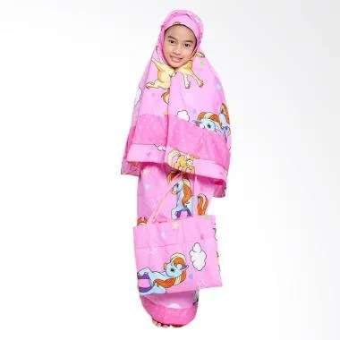 Zahra Kids Little Pony Star Mukena Anak - Pink