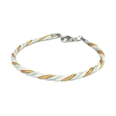 VONA Willow Gelang Kulit - Silver Gold