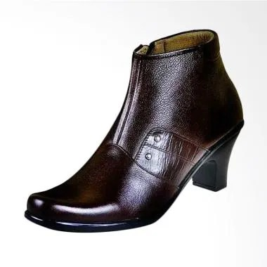 CBR Six A379 Fashionable Women Leather Casual Boots - Brown