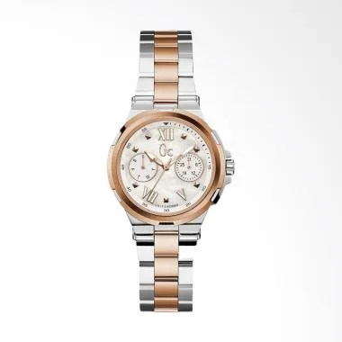 Guess Collection GC Y29002L1 Struct ... Wanita - Silver-Rose Gold