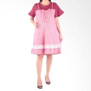 HMILL 1433 Baju Dress Ibu Hamil - Merah