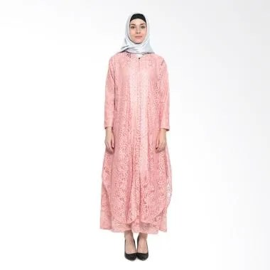 Kasa Heritage Safa Gamis Muslim Wanita - Pink