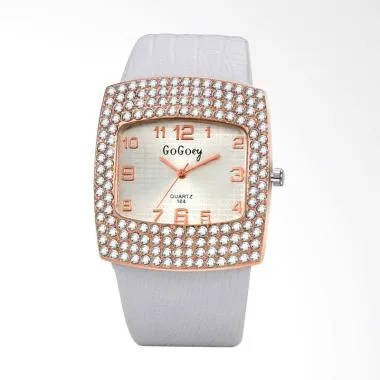 Gogoey WAT04106W Fashion Luxury Quartz Jam Tangan Wanita - White