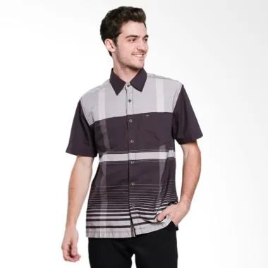Cardinal Casual Men Cotton Kemeja Pria - Brown [EAKX025.03B]