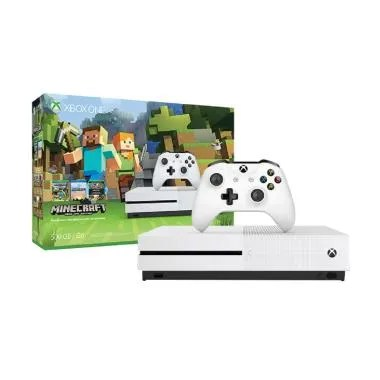 Microsoft Xbox One S Slim Minecraft Bundle Game Console [500 GB]